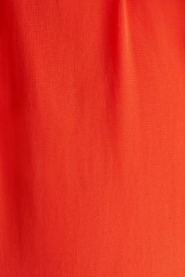Chiffon shirt dress, RED ORANGE, detail