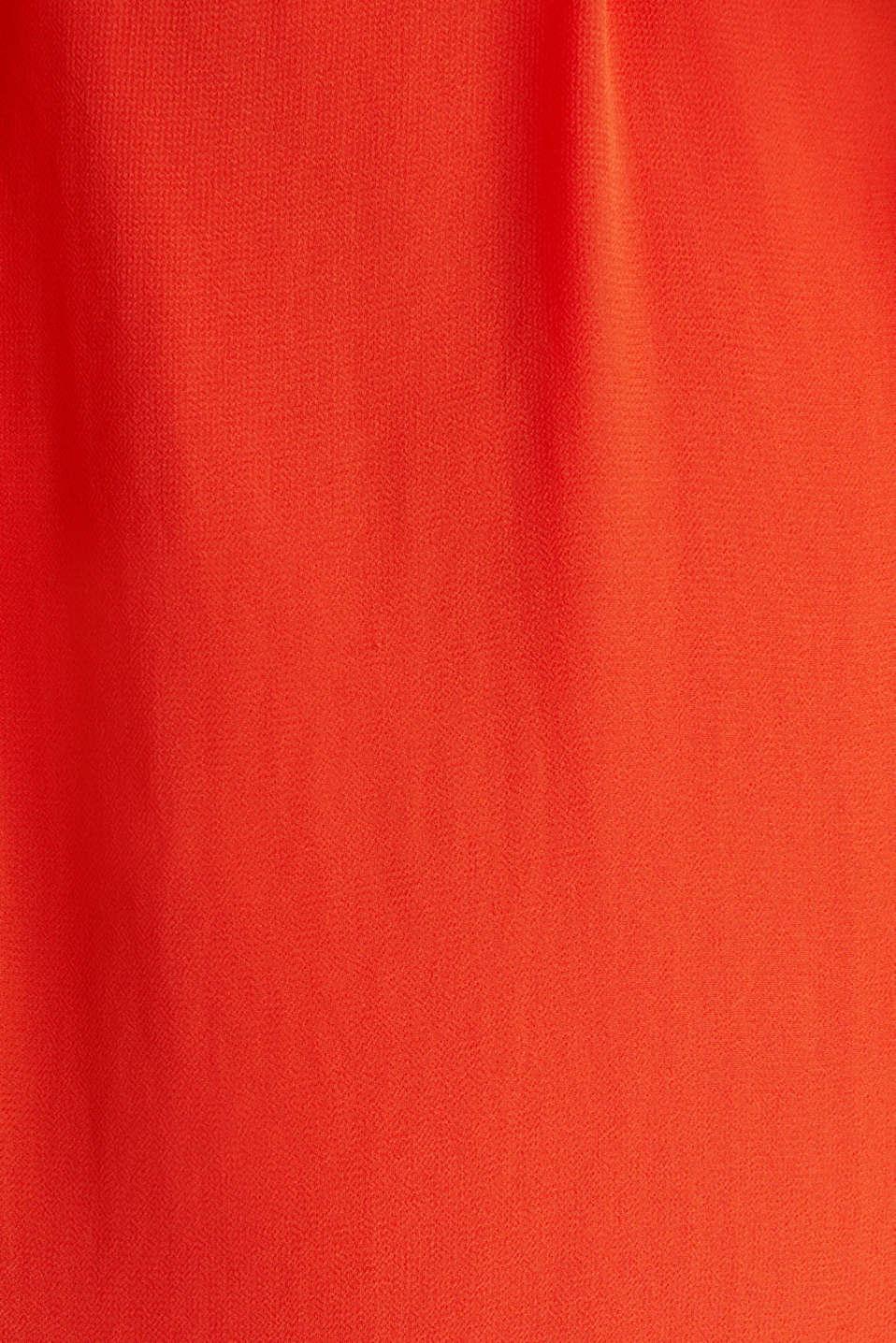 Chiffon shirt dress, RED ORANGE, detail image number 4