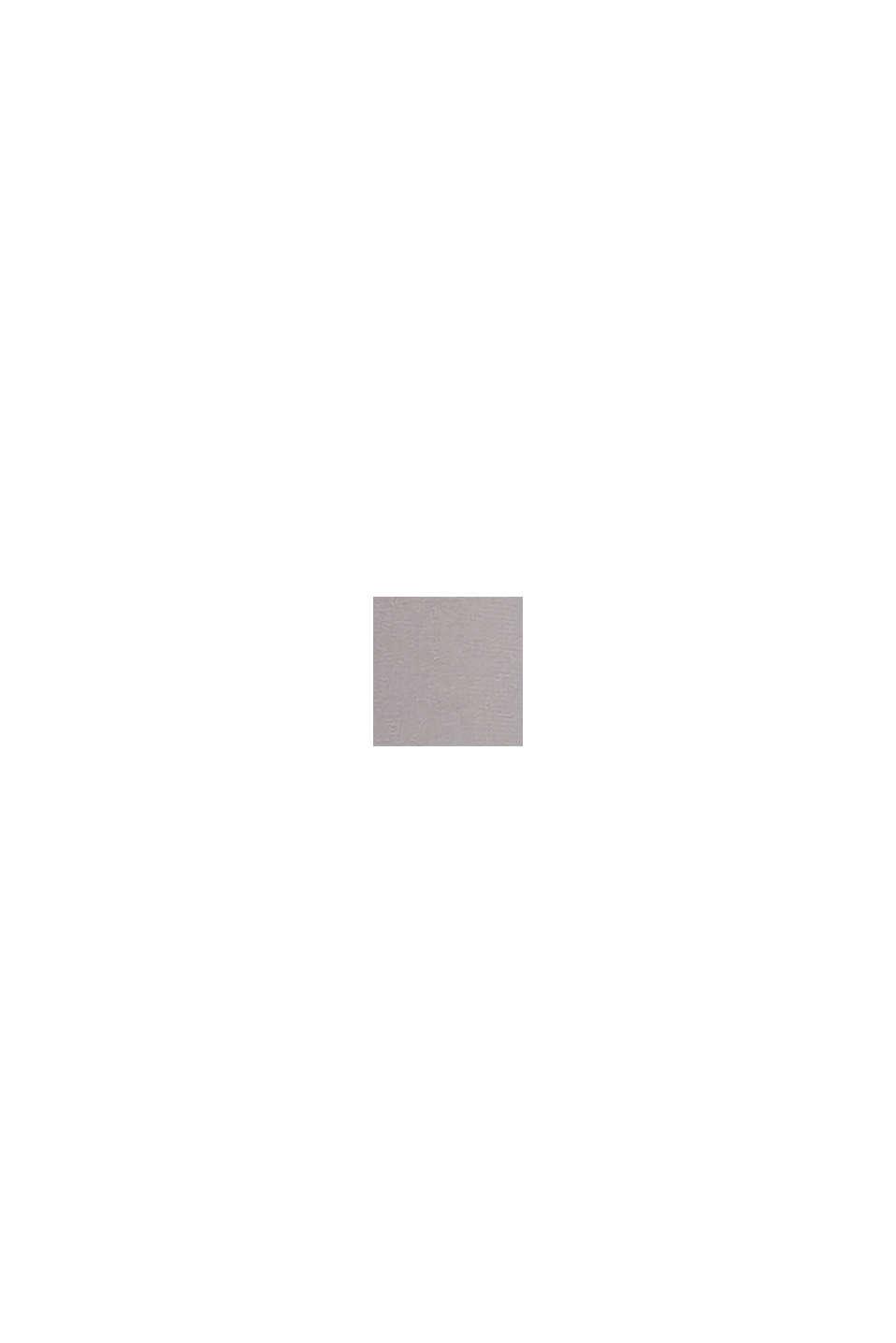 Recycelt: plissiertes Kleid mit Spitze, GREY, swatch