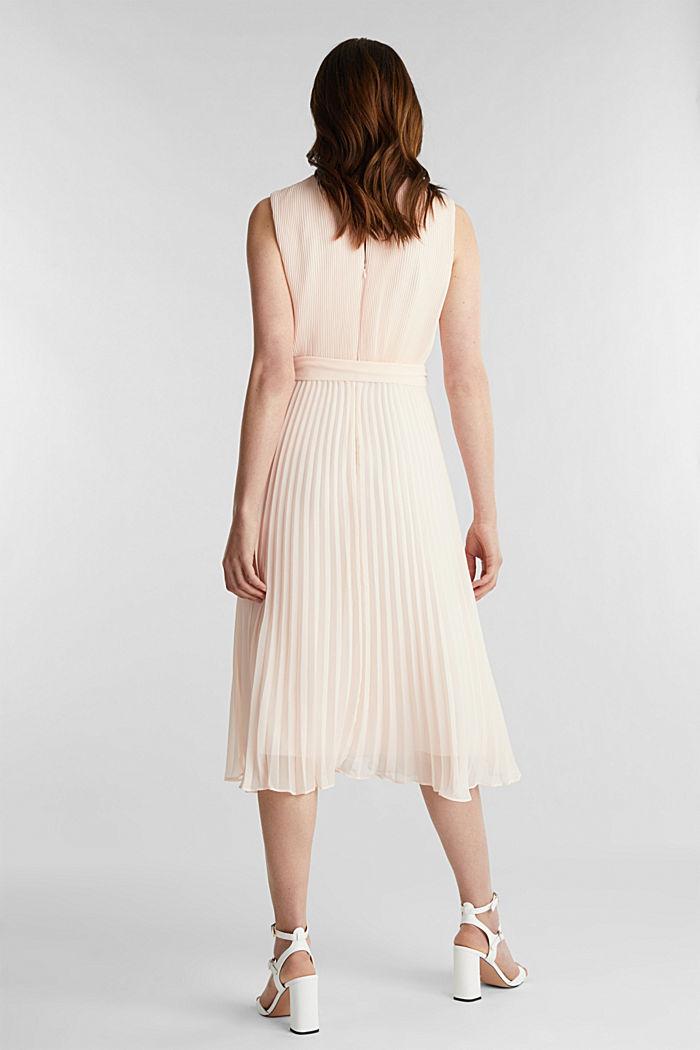 En matière recyclée: la robe longueur midi à plis, PASTEL PINK, detail image number 2