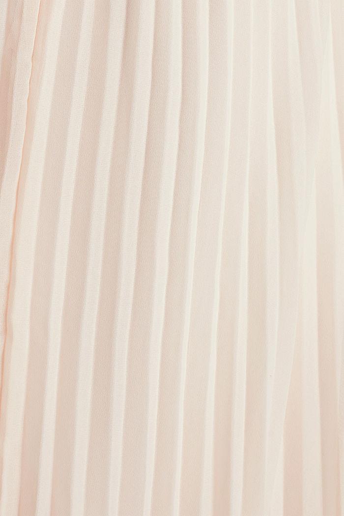 En matière recyclée: la robe longueur midi à plis, PASTEL PINK, detail image number 4