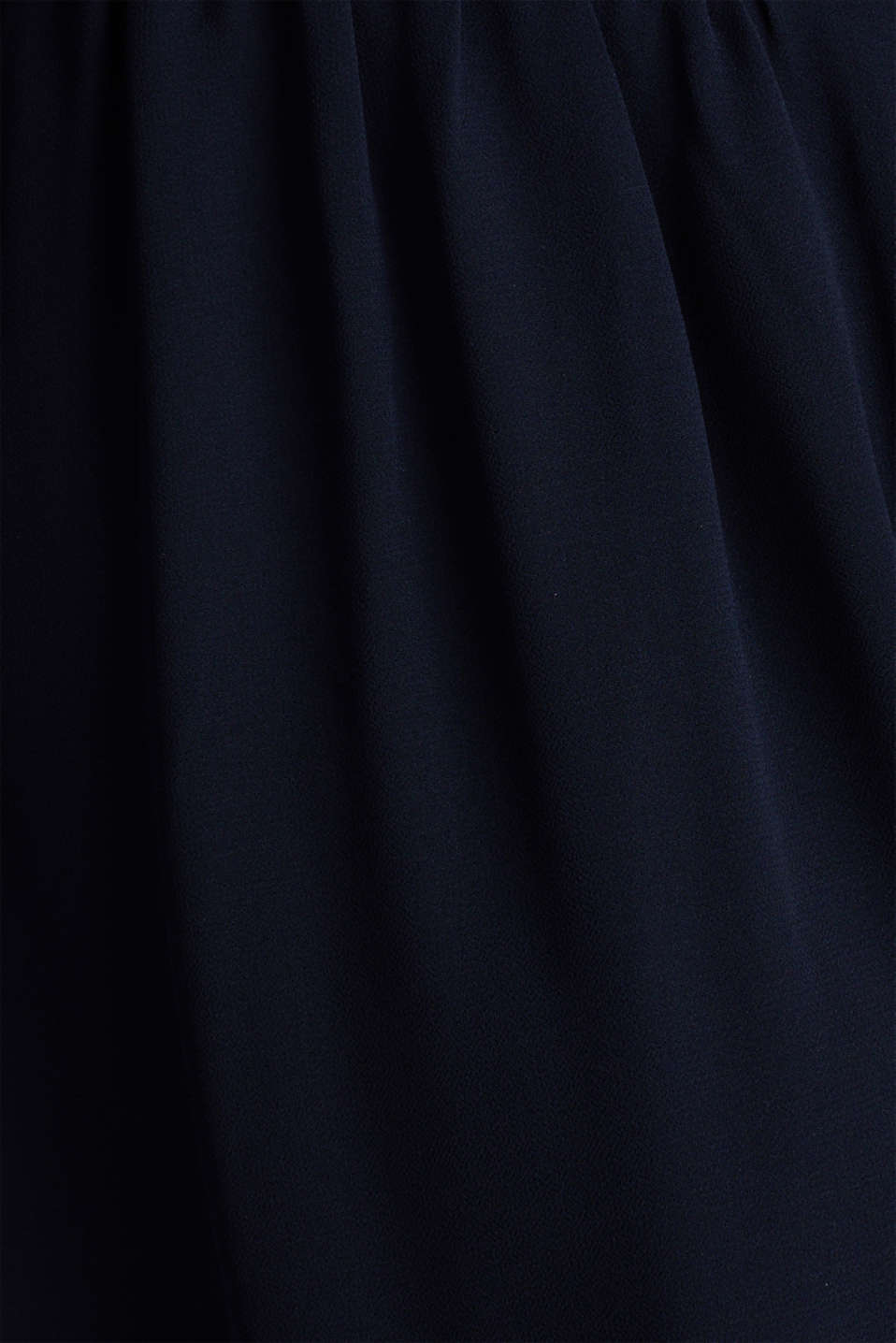 Recycled: chiffon dress with button placket, NAVY, detail image number 4