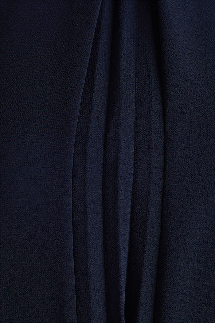 Recycled: crêpe dress with a belt, NAVY, detail image number 3