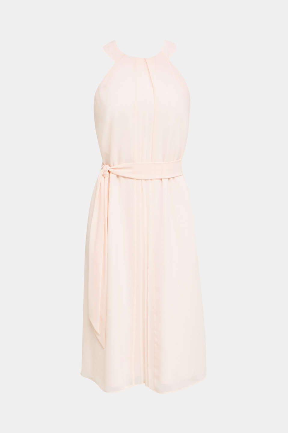 Recycled: crêpe dress with a belt, PASTEL PINK, detail image number 5