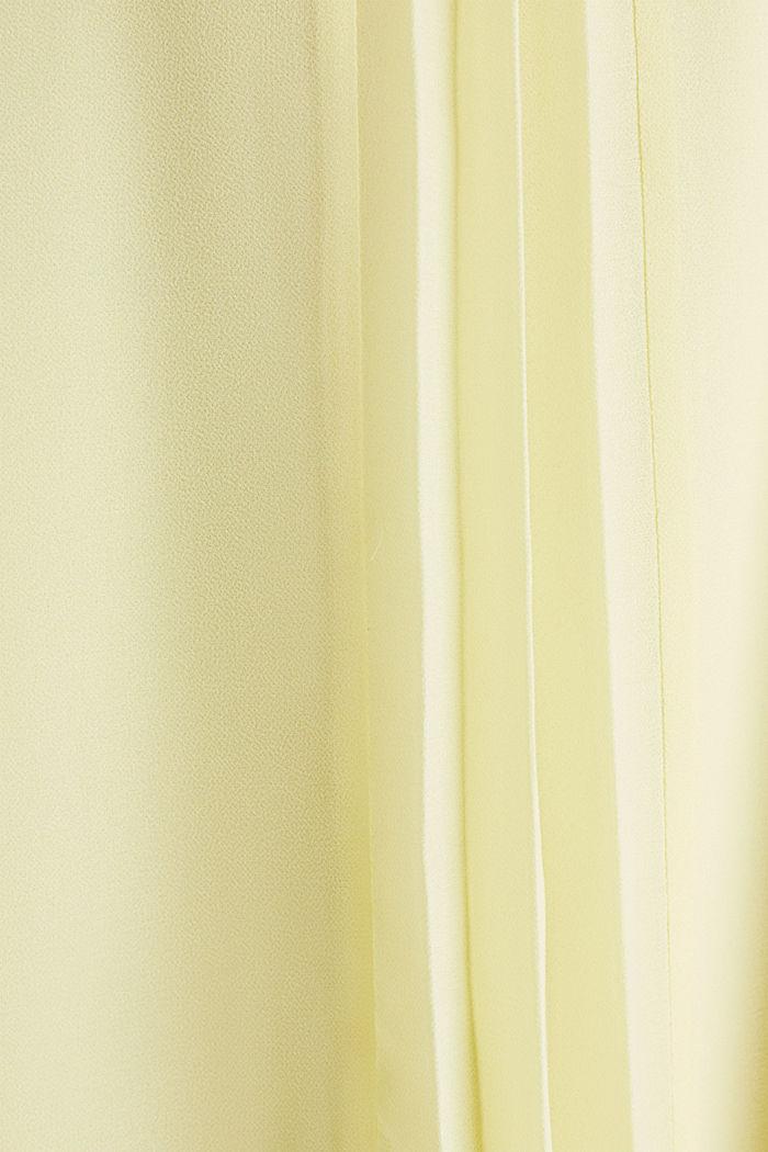 Z recyklingu: Krepowa sukienka z paskiem, LIME YELLOW, detail image number 3