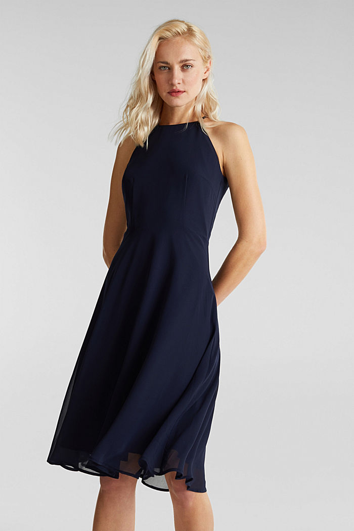 Recycled: dress with lace back, NAVY, detail image number 0