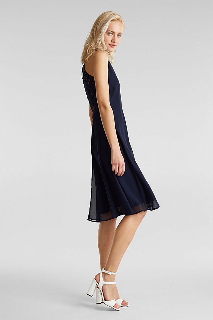 Recycled: dress with lace back, NAVY, detail image number 3