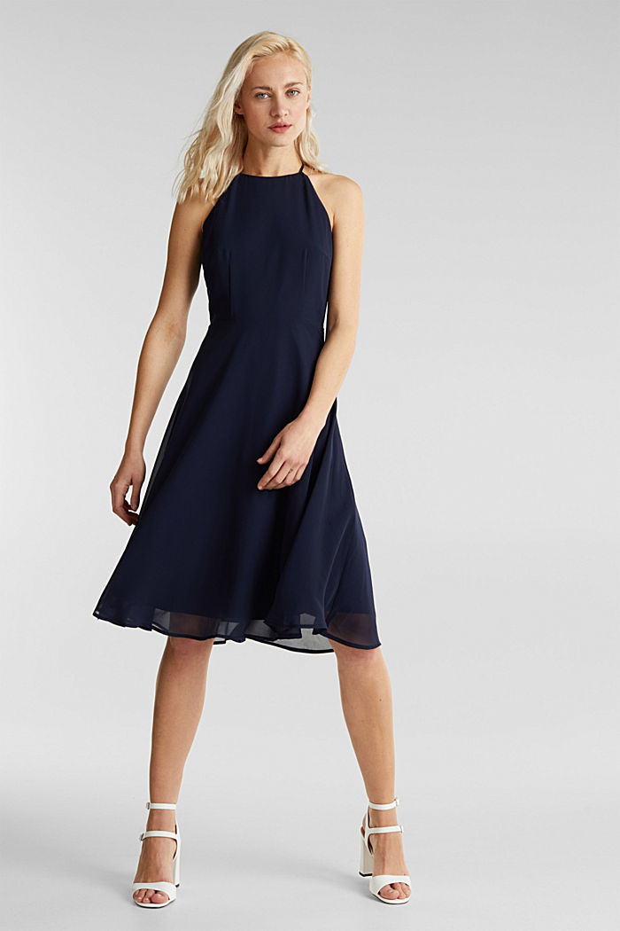 Recycled: dress with lace back, NAVY, detail image number 1