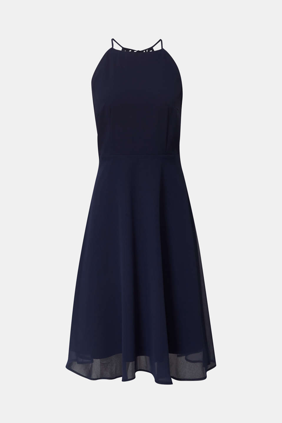 Recycled: dress with lace back, NAVY, detail image number 6