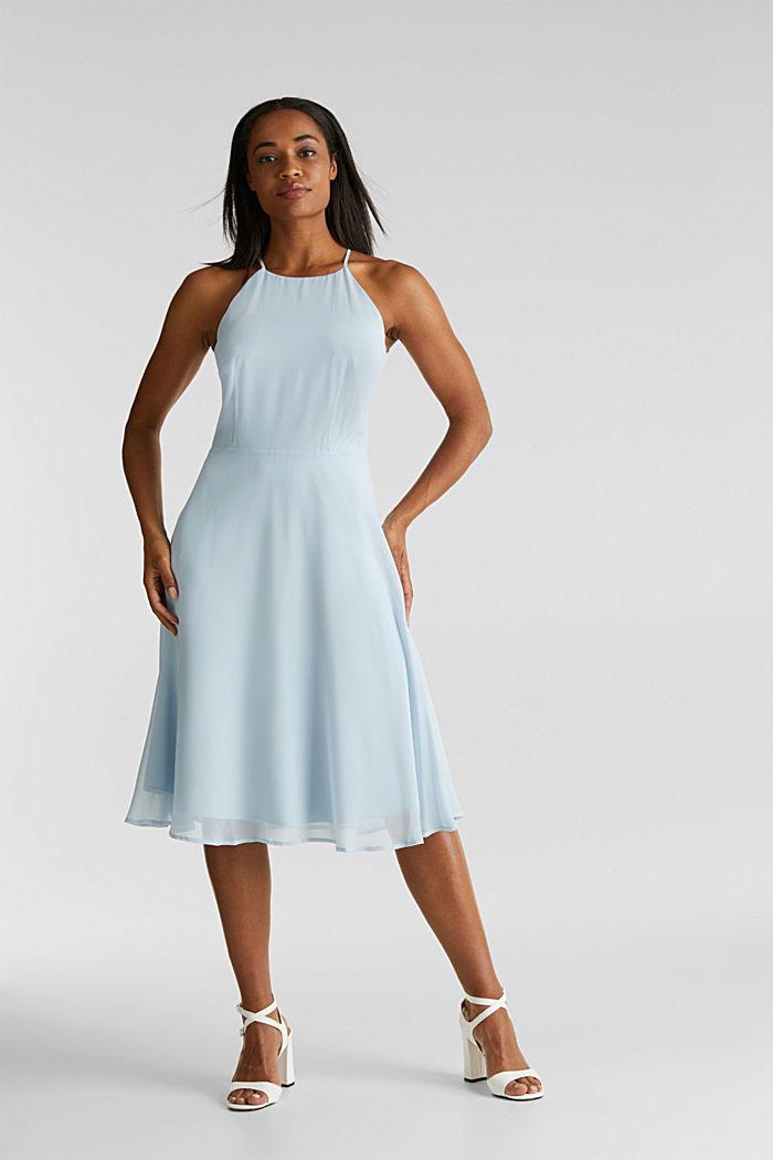 Z recyklingu: sukienka z koronkowym tyłem, PASTEL BLUE, detail image number 1
