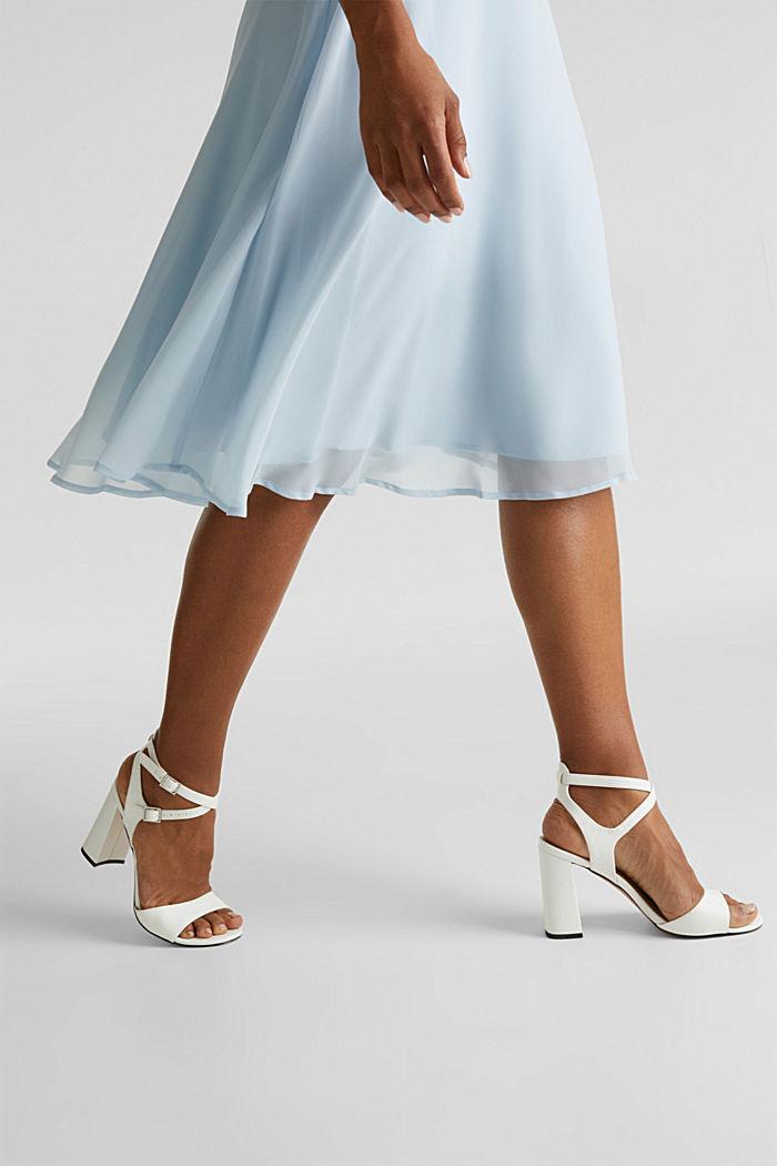 Z recyklingu: sukienka z koronkowym tyłem, PASTEL BLUE, detail image number 5