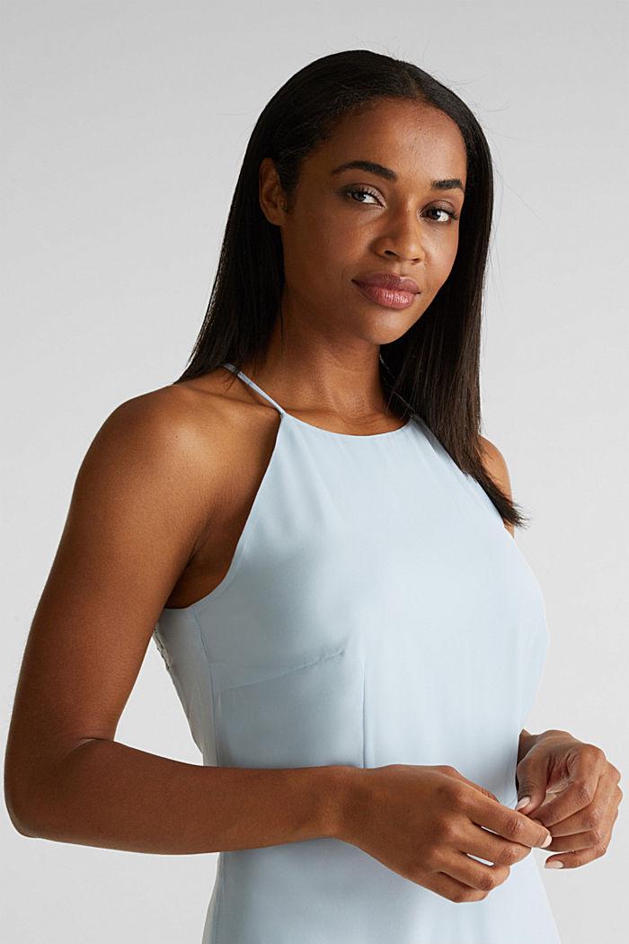Z recyklingu: sukienka z koronkowym tyłem, PASTEL BLUE, detail image number 6
