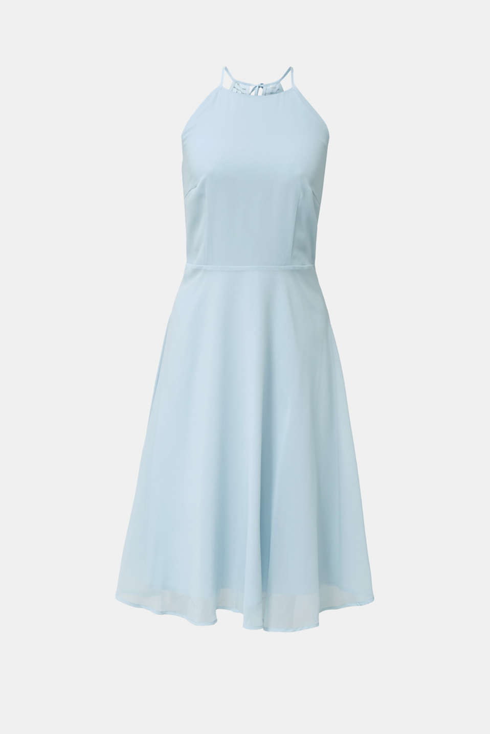 Recycled: dress with lace back, PASTEL BLUE, detail image number 7