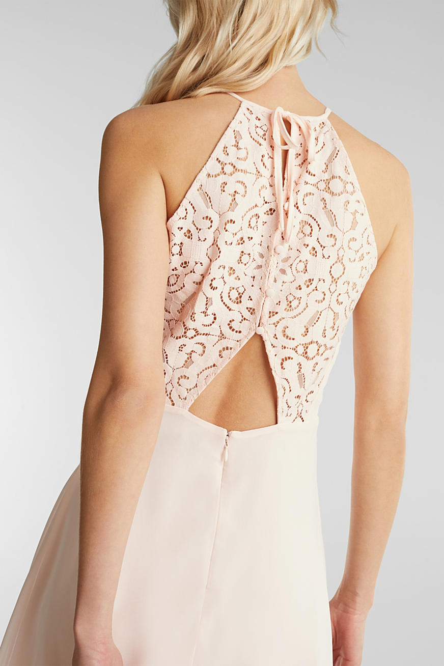 Recycled: dress with lace back