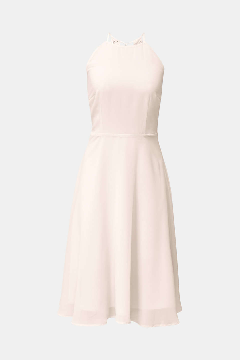 Recycled: dress with lace back, PASTEL PINK, detail image number 5