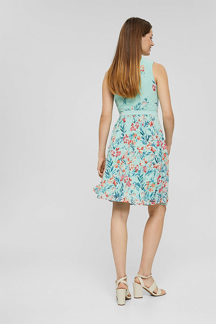 Chiffon dress with floral print, PASTEL GREEN, detail image number 2