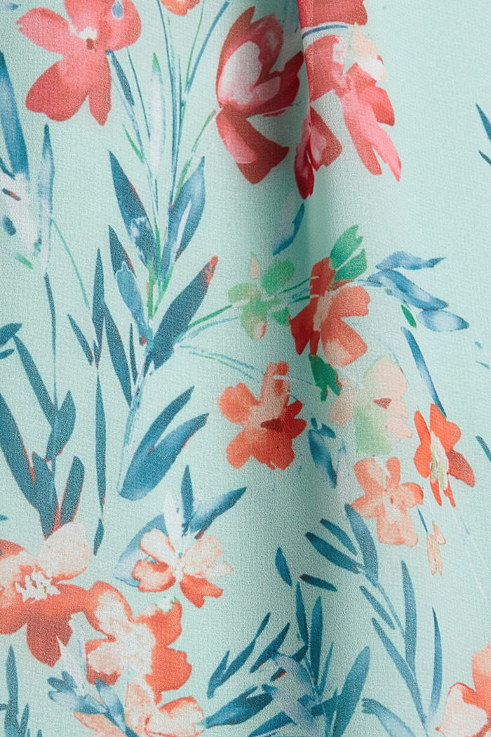 Chiffon dress with floral print, PASTEL GREEN, detail image number 4