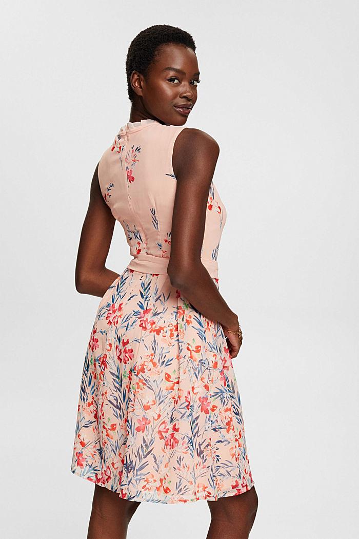Chiffon-Kleid mit Blumen-Print, PASTEL PINK, detail image number 2