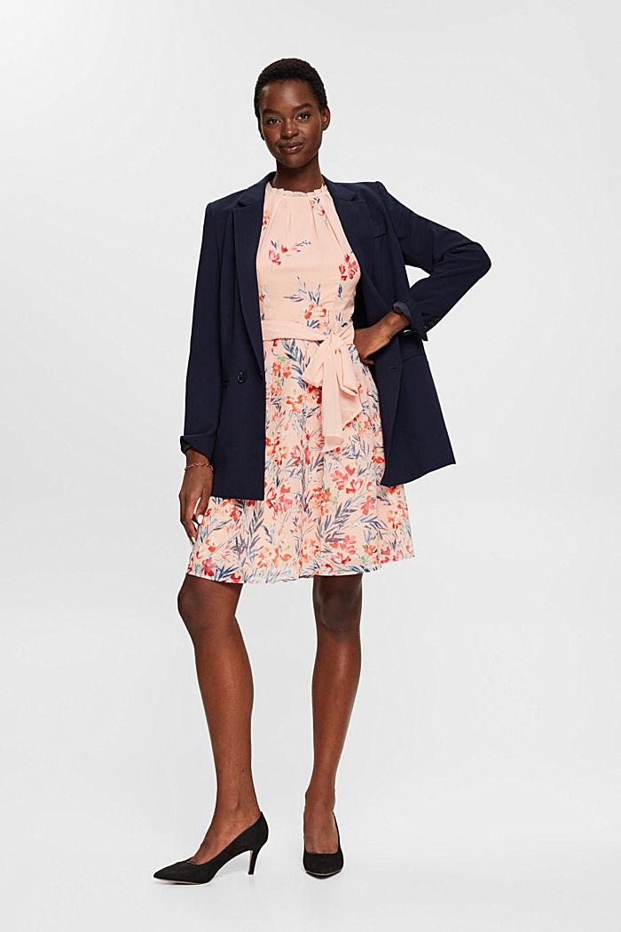Chiffon-Kleid mit Blumen-Print, PASTEL PINK, detail image number 1