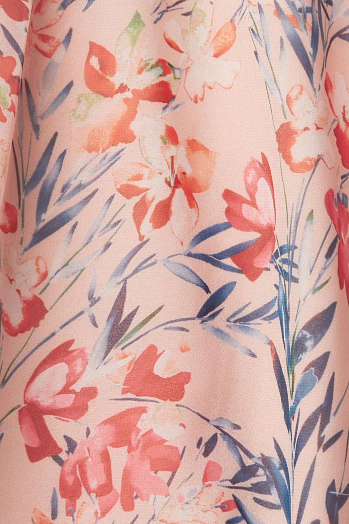 Chiffon-Kleid mit Blumen-Print, PASTEL PINK, detail image number 4