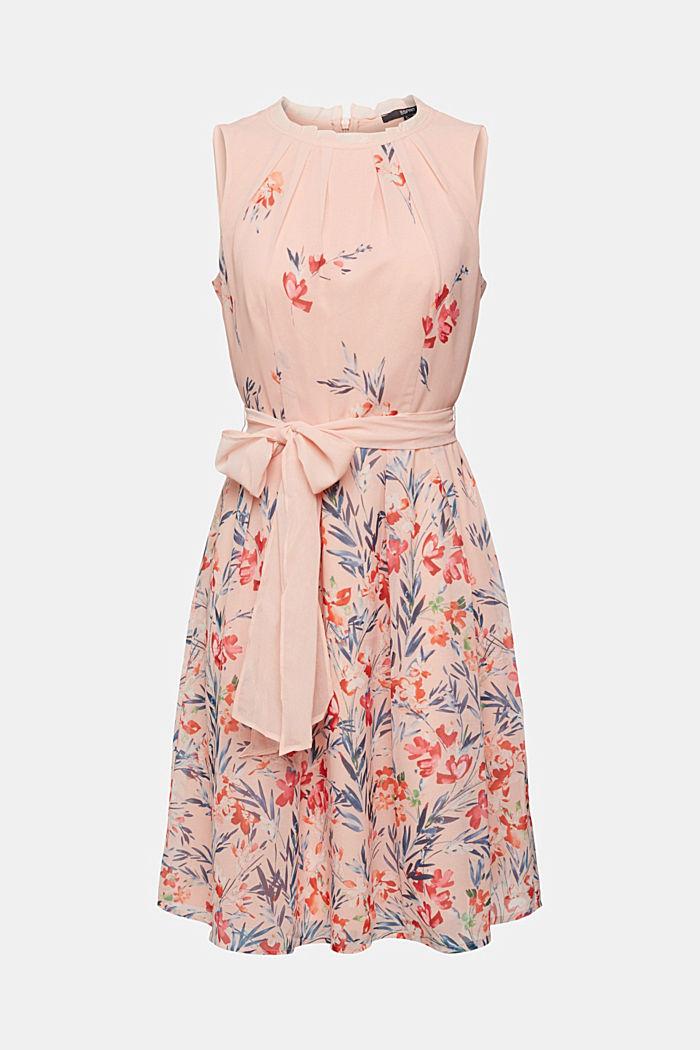Chiffon-Kleid mit Blumen-Print, PASTEL PINK, detail image number 6