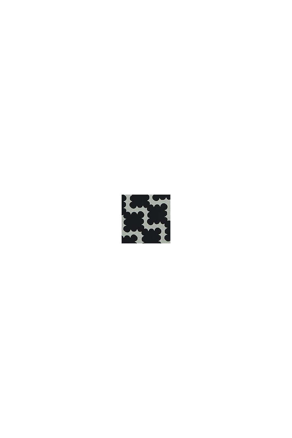 Robe en mousseline à imprimé graphique, BLACK, swatch