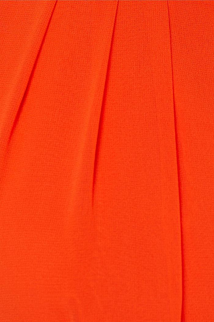Tailliertes Crêpe-Kleid in A-Linie mit Gürtel, RED ORANGE, detail image number 4