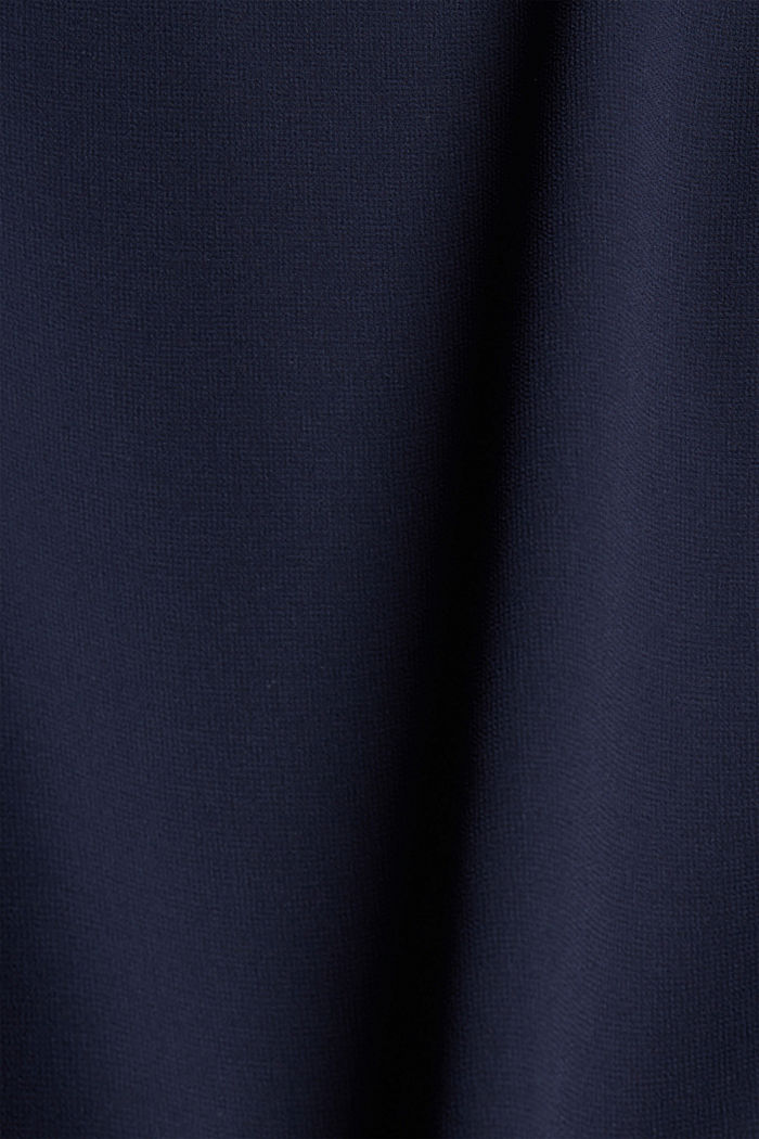Recycled: chiffon dress in a layered look, NAVY, detail image number 4