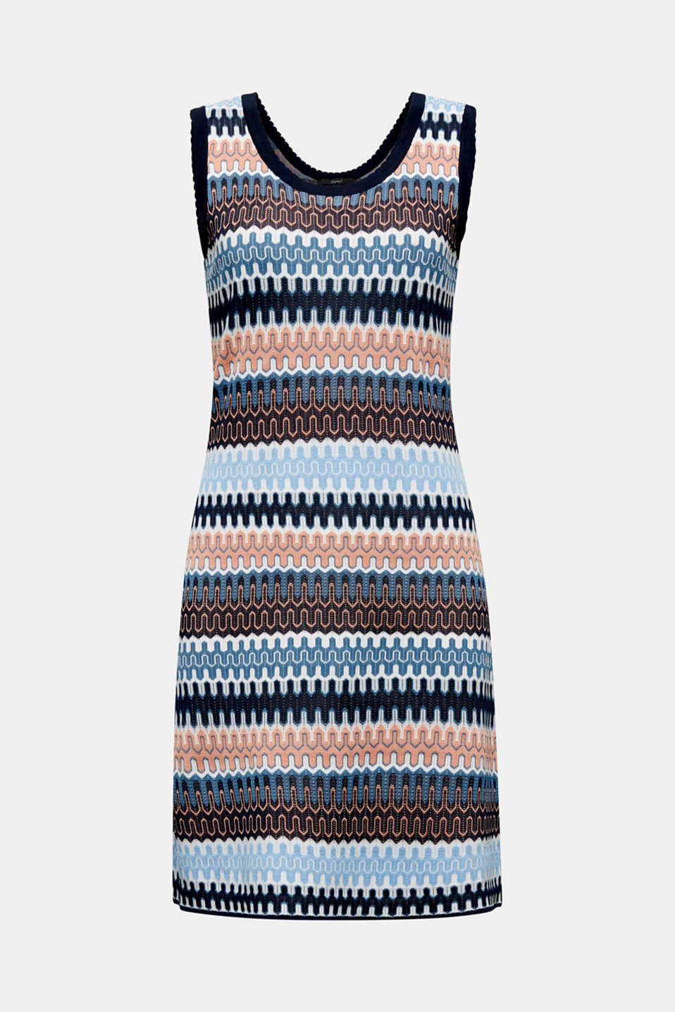 Knit dress with a jacquard pattern, NAVY, detail image number 5