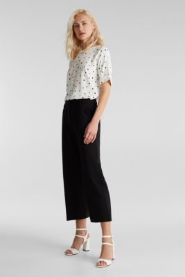 Short sleeve blouse with print, OFF WHITE 4, detail