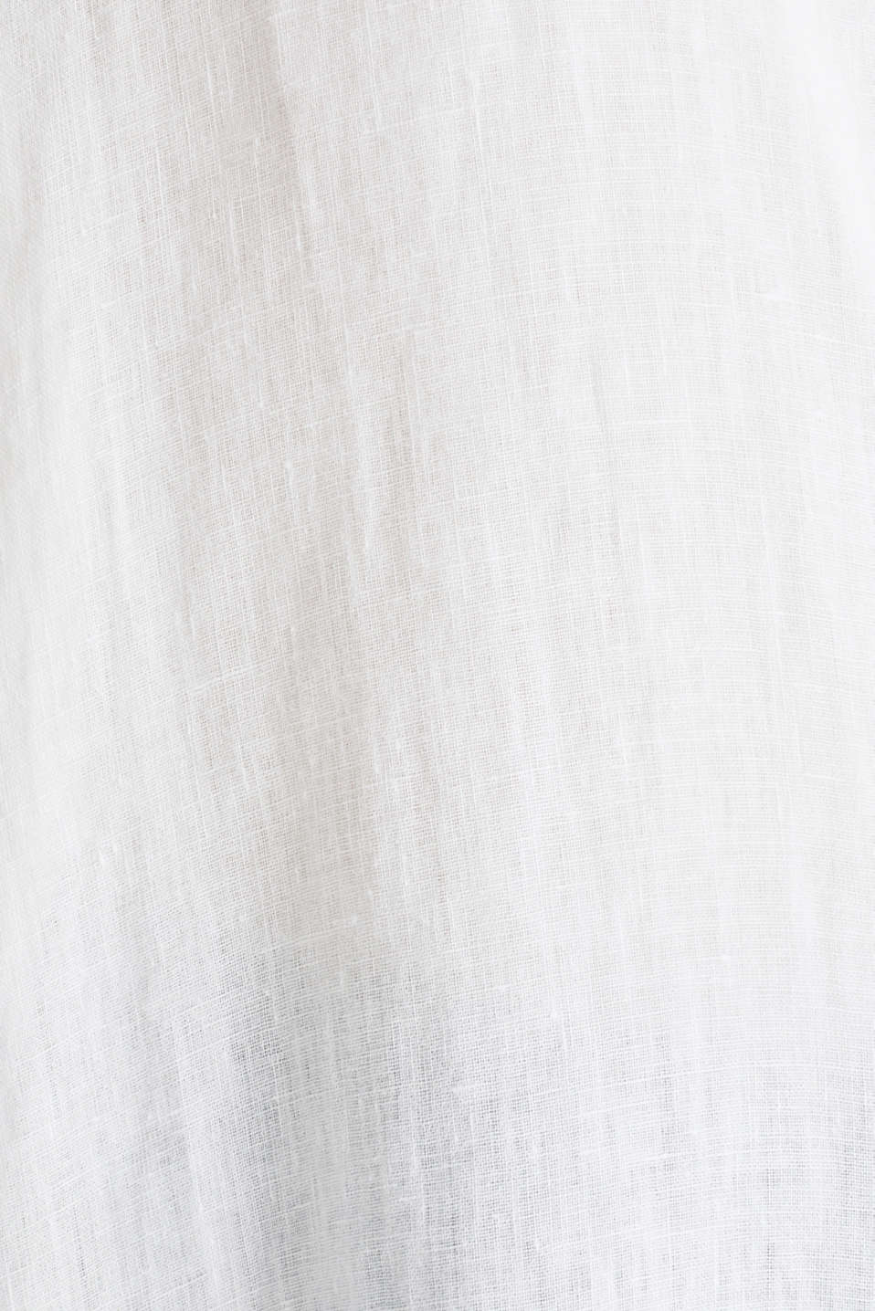Made of linen: shirt blouse in a long cut, WHITE, detail image number 3