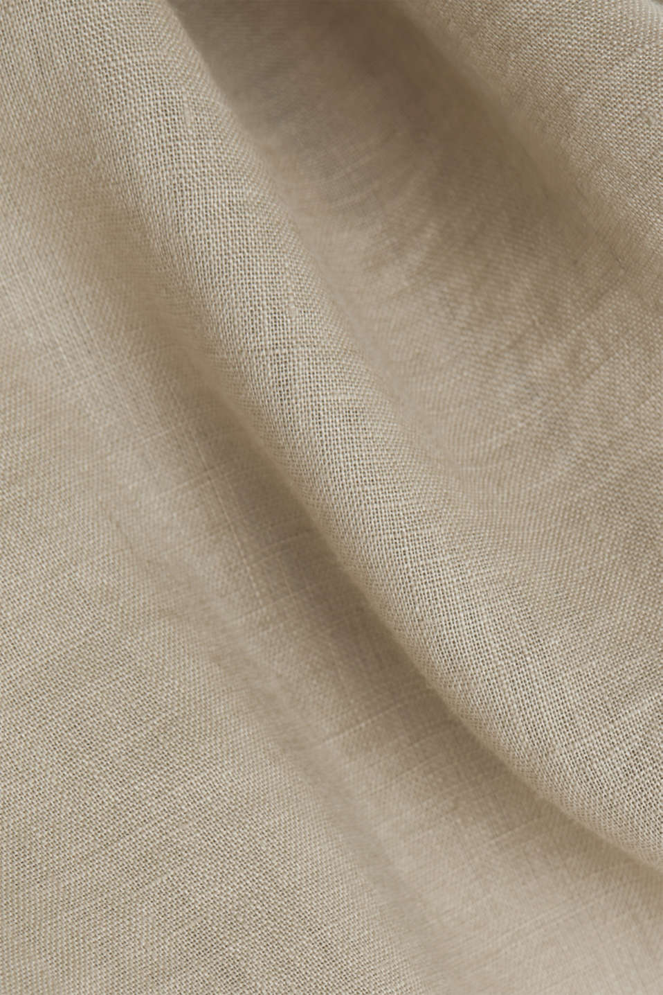 Made of linen: shirt blouse in a long cut, KHAKI BEIGE, detail image number 4