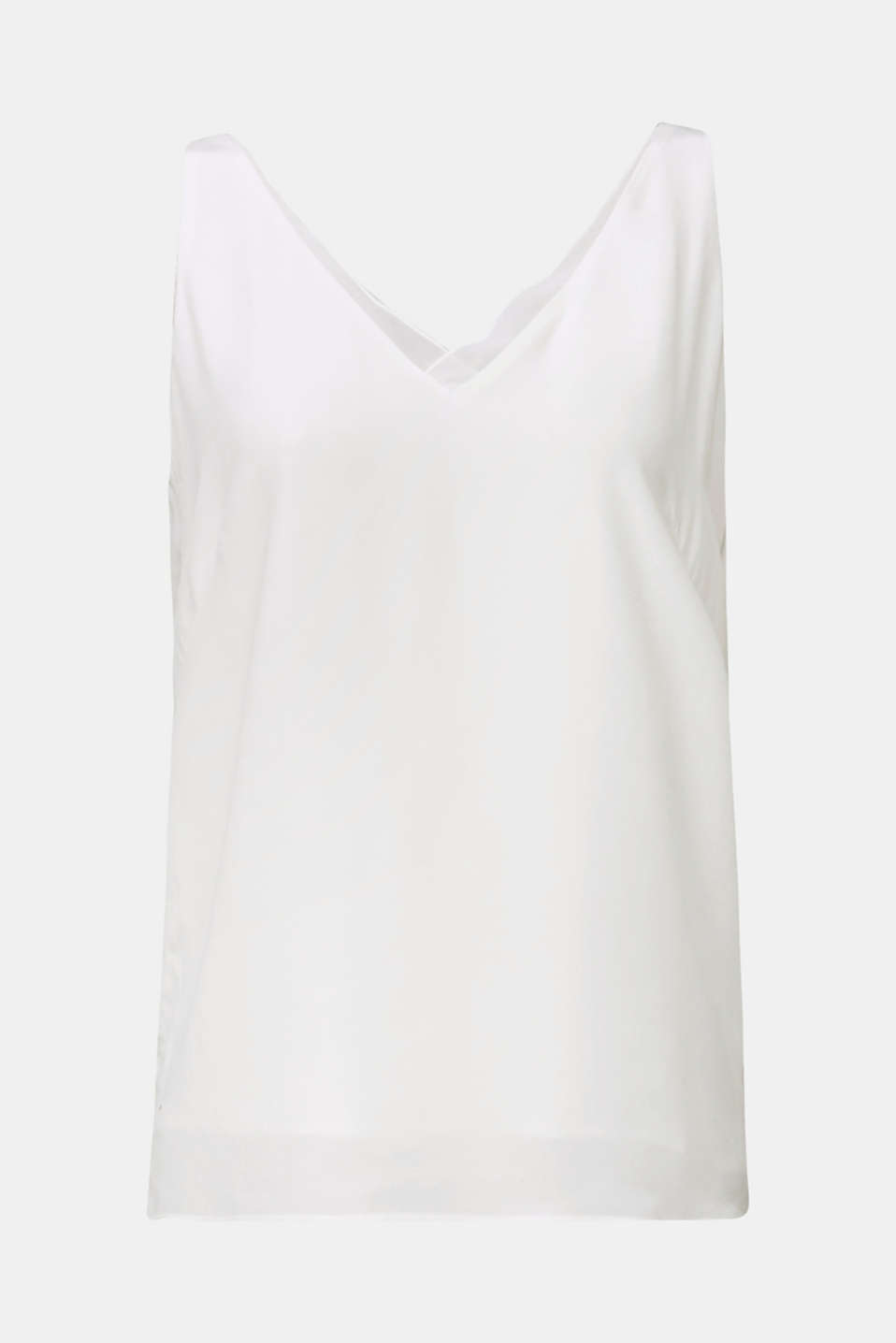 Blouse top made of LENZING™ ECOVERO™, OFF WHITE, detail image number 6