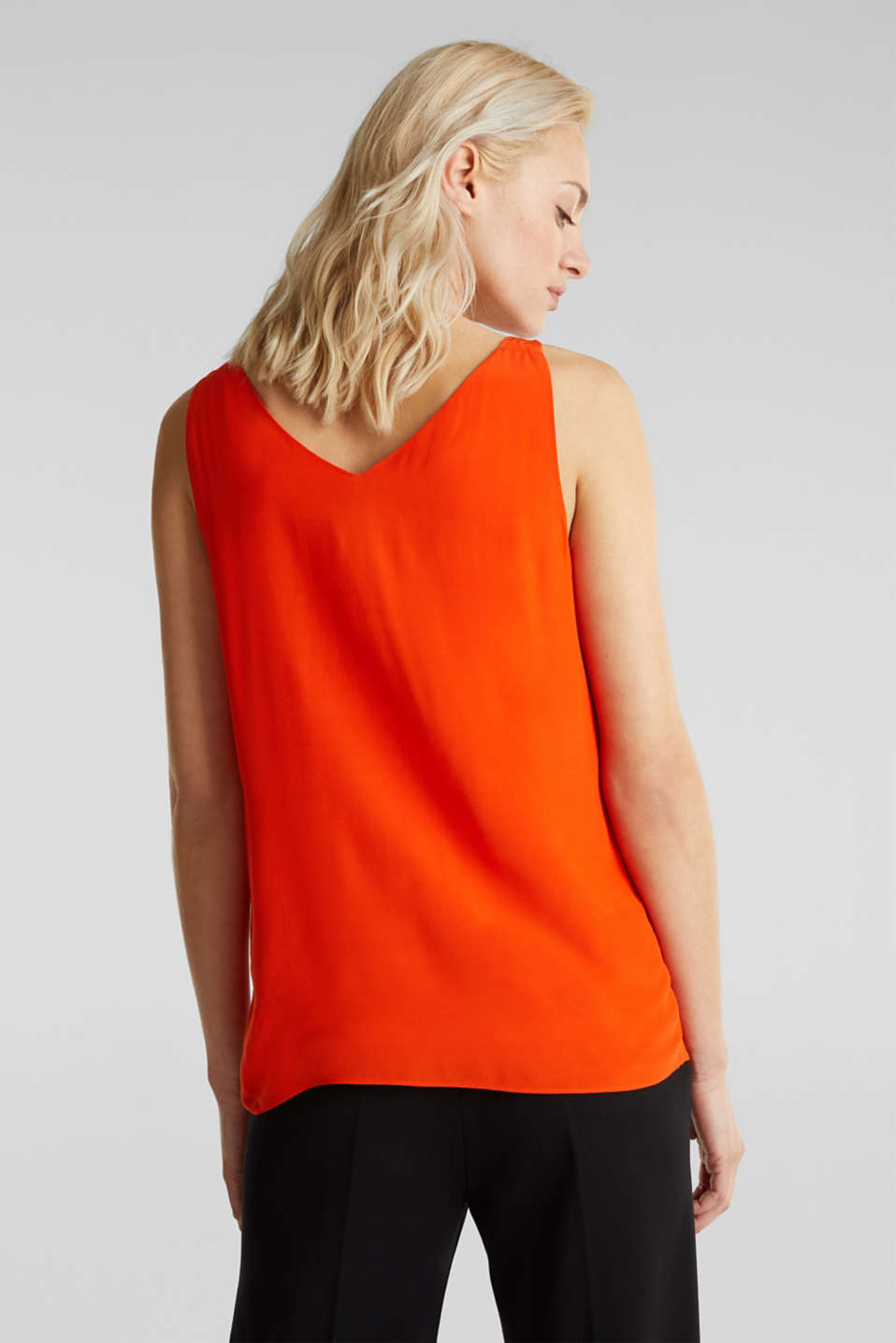 Blouse top made of LENZING™ ECOVERO™, RED ORANGE, detail image number 2