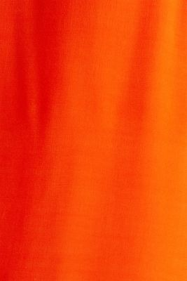 Blouse top made of LENZING™ ECOVERO™, RED ORANGE, detail