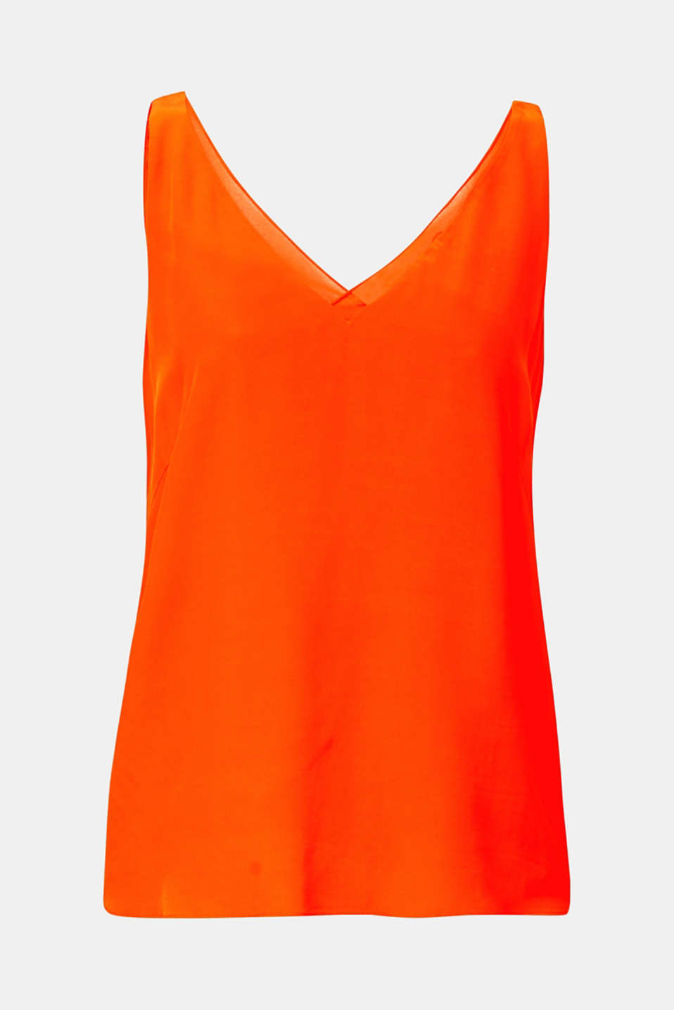 Blouse top made of LENZING™ ECOVERO™, RED ORANGE, detail image number 5