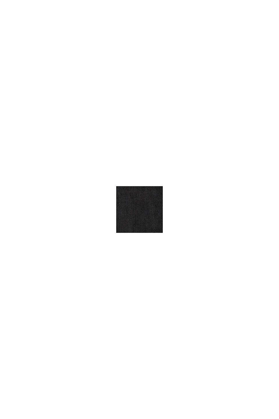 Aus Leinen: kastiges Blusentop, BLACK, swatch