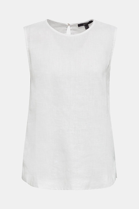 Made of linen: boxy blouse top