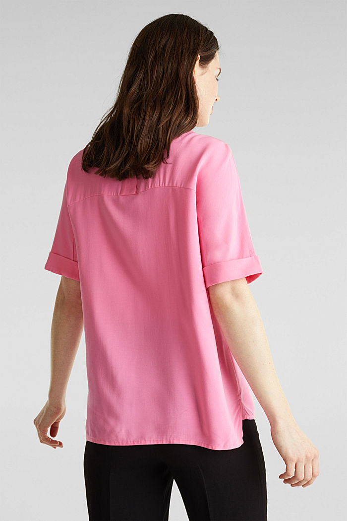 Short sleeve blouse with trendy details, PINK, detail image number 2