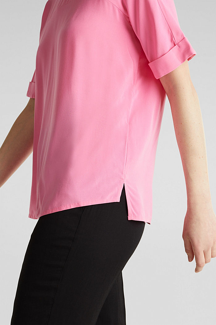 Short sleeve blouse with trendy details, PINK, detail image number 4