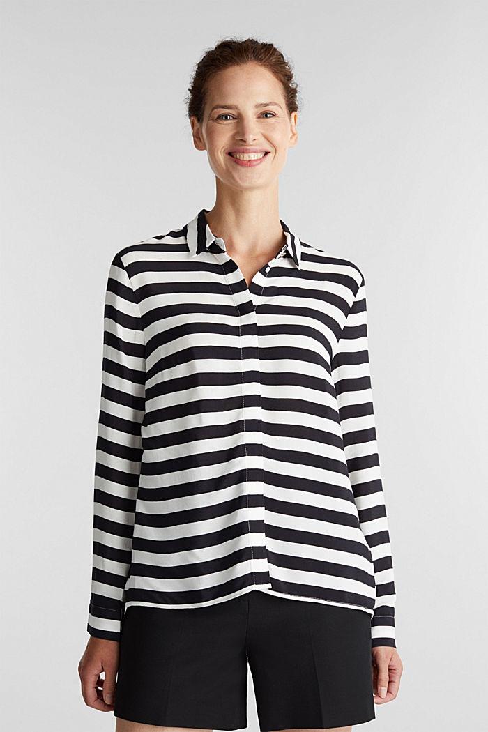 Crêpe blouse, LENZING™ ECOVERO™, NEW OFF WHITE, detail image number 0