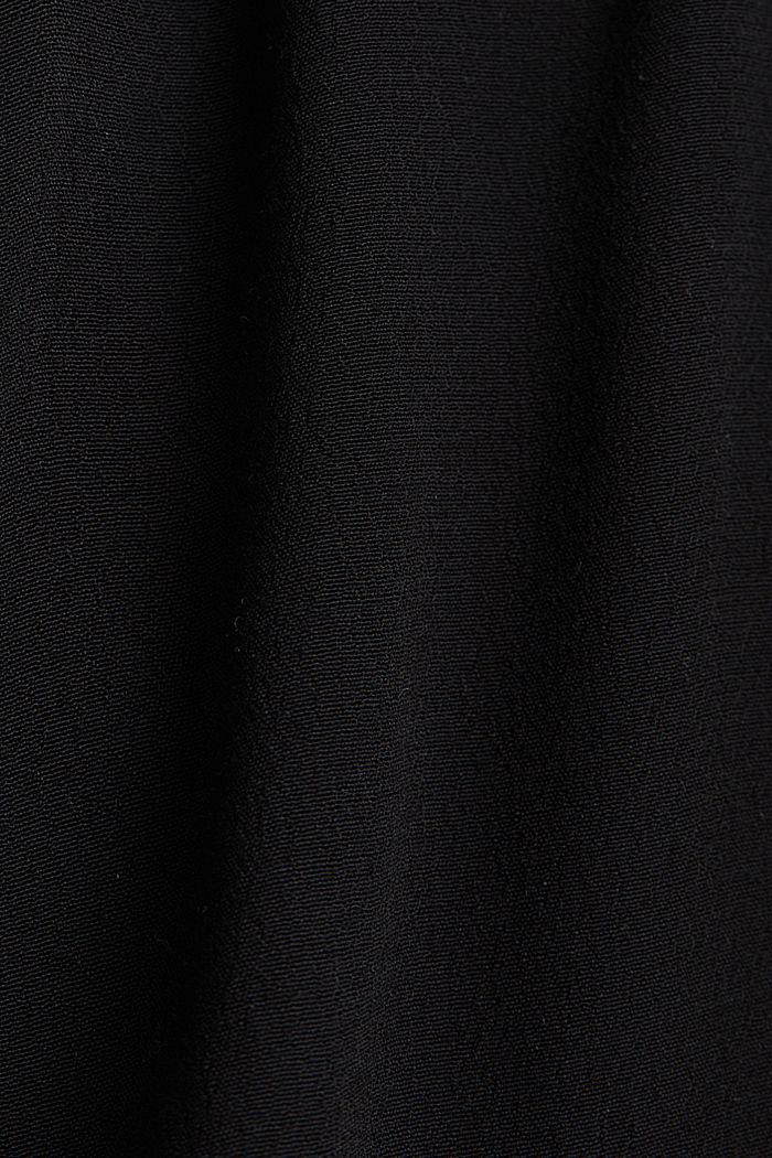 Top met schouderbandjes van LENZING™ ECOVERO™, BLACK, detail image number 4