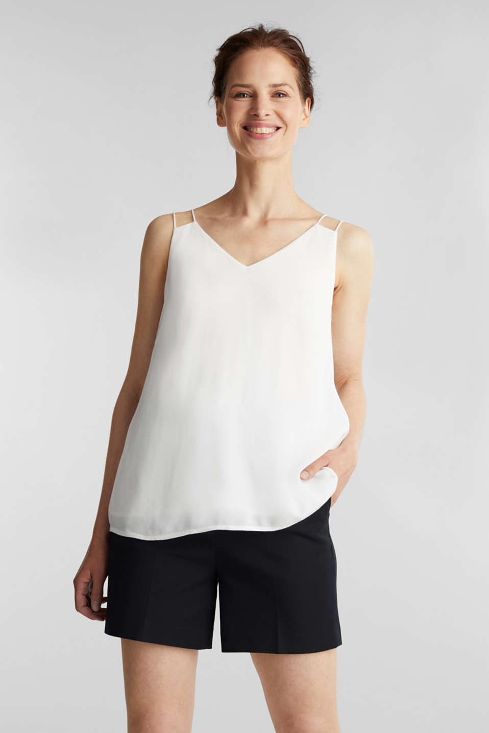 Esprit - Strappy top made of LENZING™ ECOVERO™