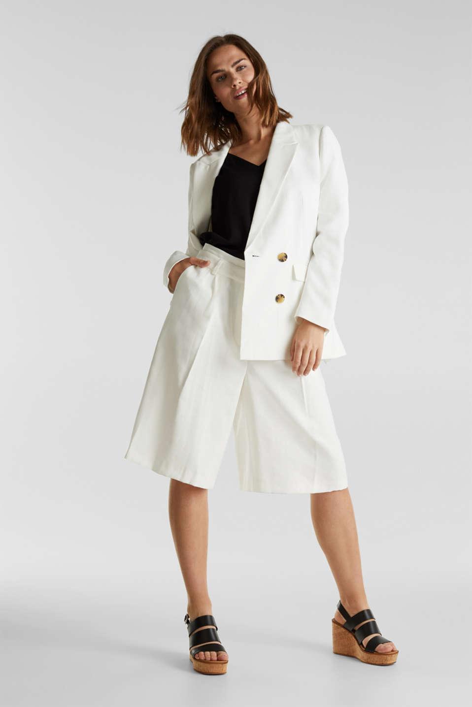 SUMMER BIZ mix + match blazer, WHITE, detail image number 1