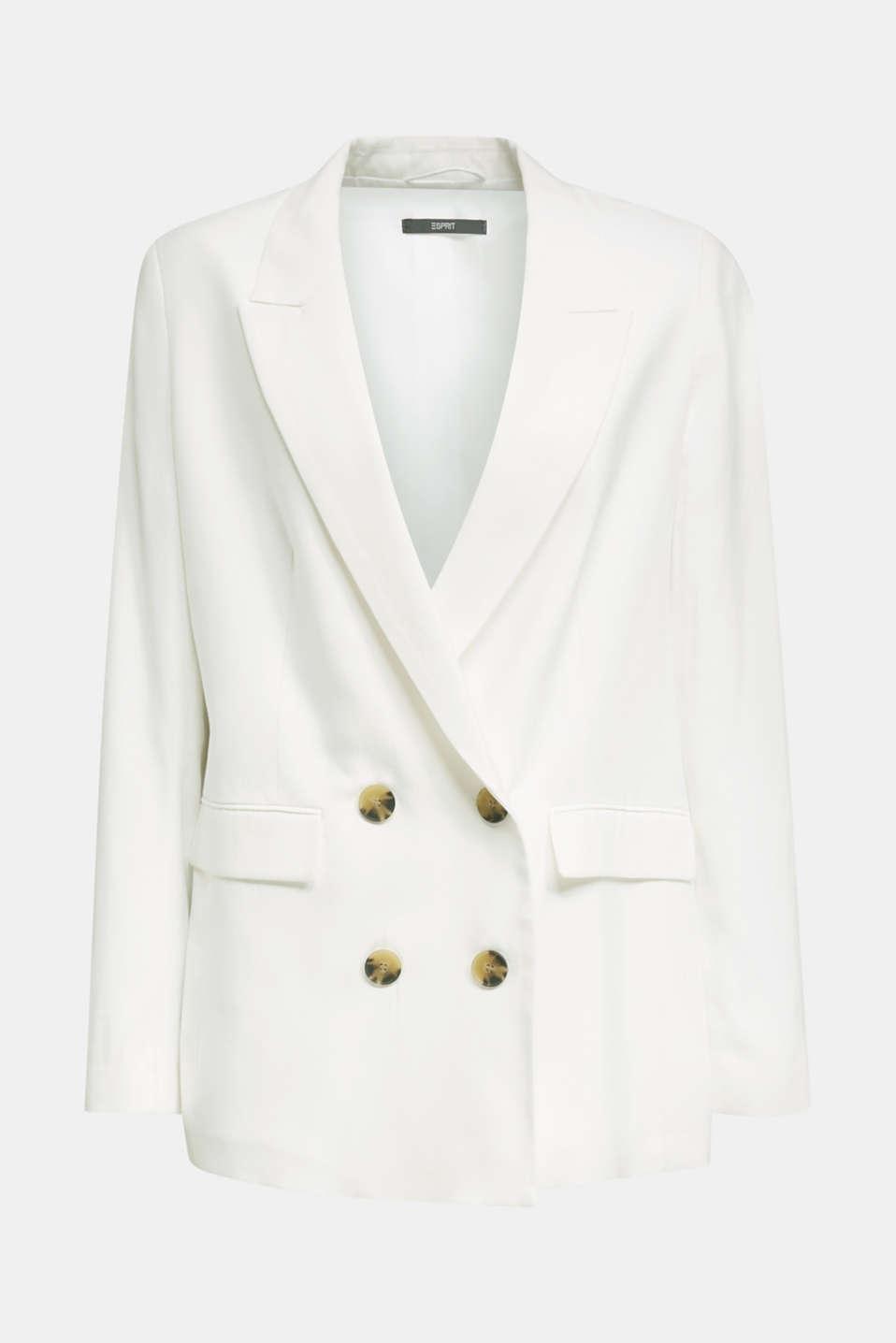 SUMMER BIZ mix + match blazer, WHITE, detail image number 5