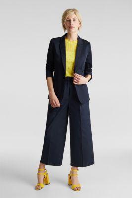 Stretch blazer with a fine sheen, NAVY, detail