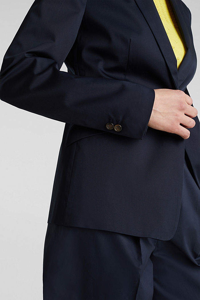 Stretch-Blazer mit feinem Glanz, NAVY, detail image number 2