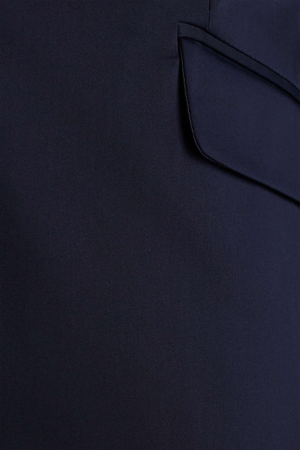 Stretch blazer with a fine sheen, NAVY, detail image number 4