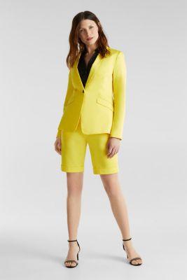 Stretch blazer with a fine sheen, YELLOW, detail