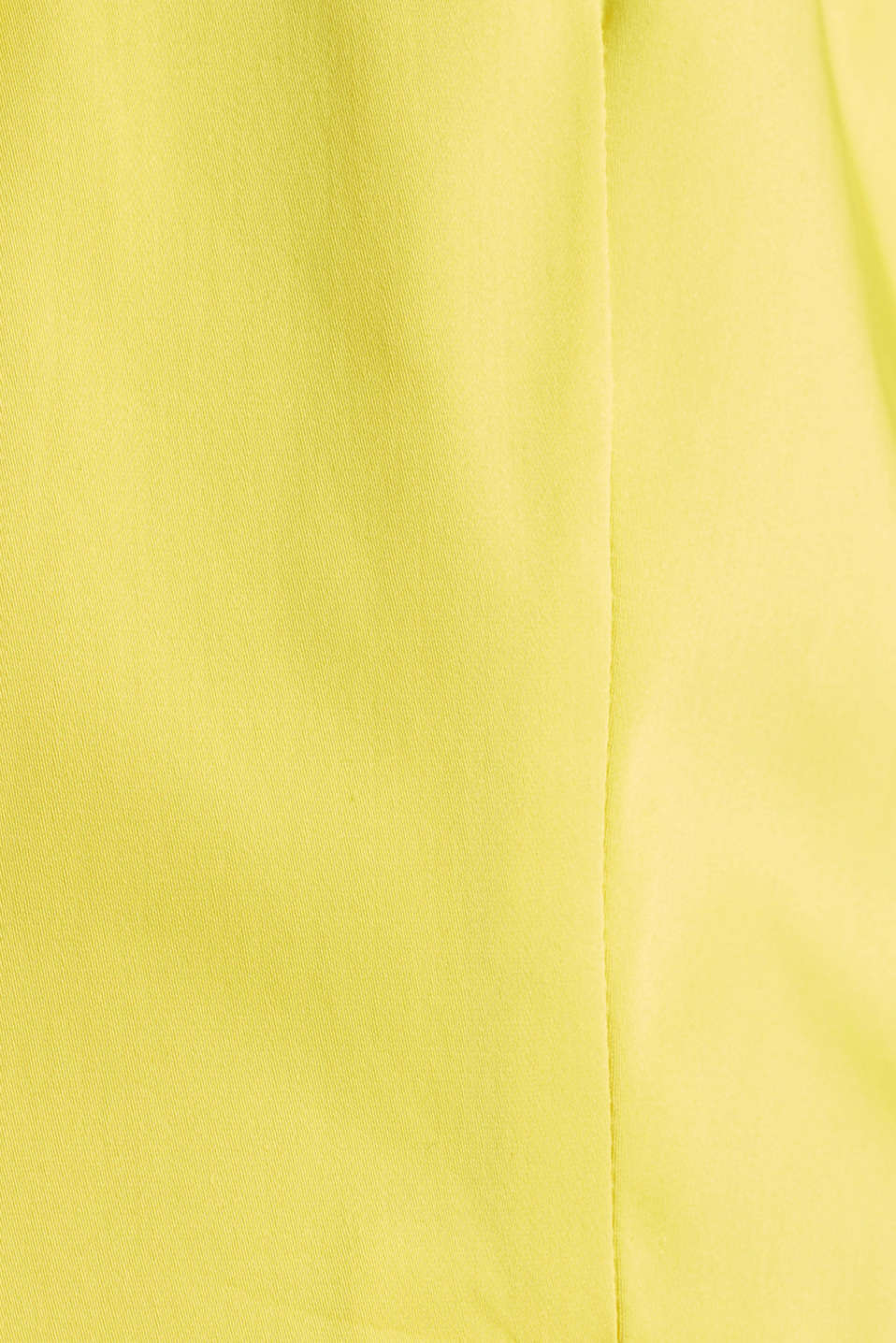 Stretch blazer with a fine sheen, YELLOW, detail image number 4